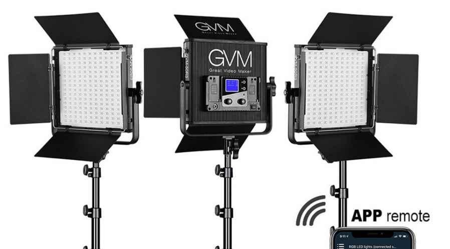 GVM Panneau LED RGBW (Kit de 3 Panneaux)