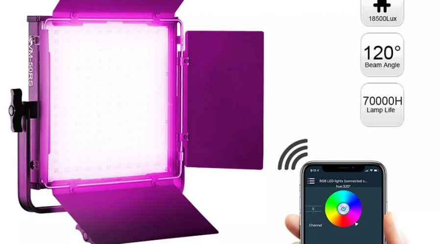 GVM Panneau LED RGBW