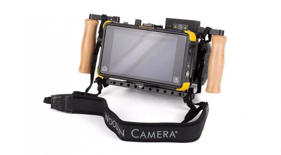 Wooden camera Support portatif pour moniteur