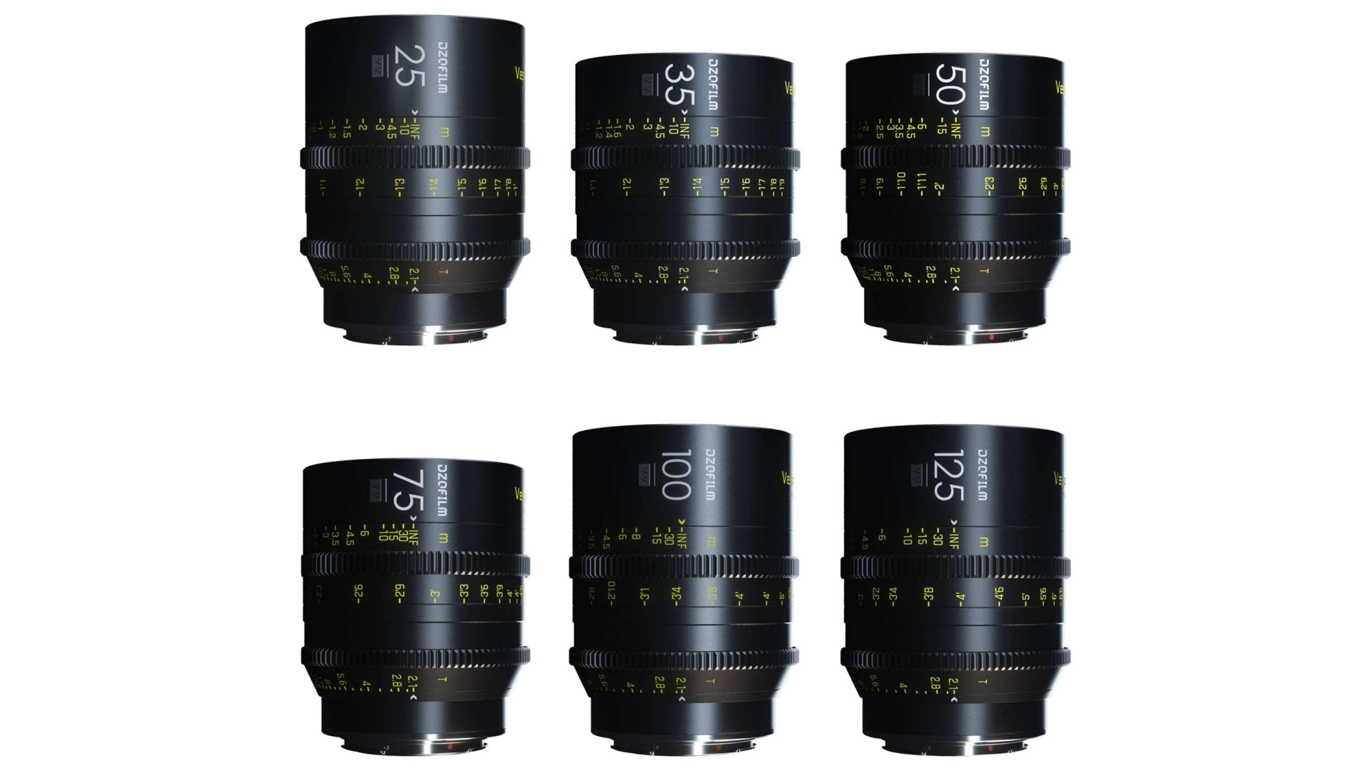 Kit de 3 Objectif ciné EF Full frame Vespid de DZOfilm
